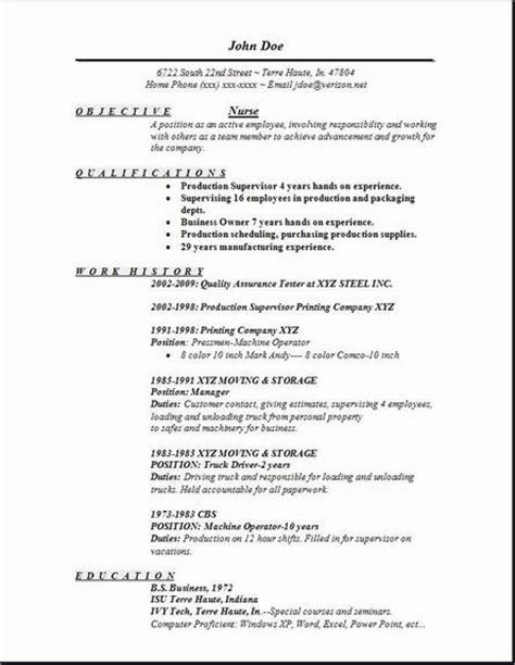 Bsc Nursing Resume Format Free Resume Exles Sles Free Edit With Word