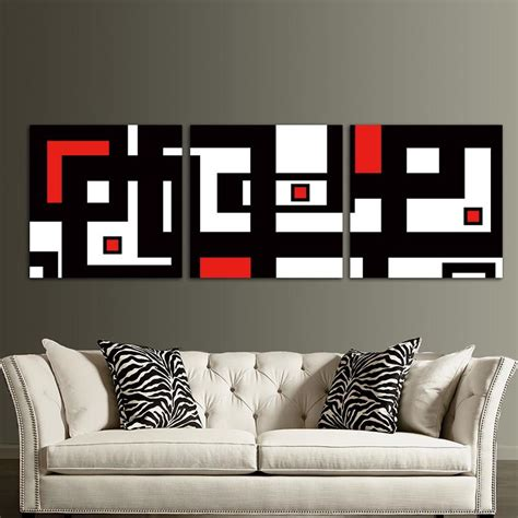 european design modern art print living room curtains 2 red black white design modern abstract wall art decor for