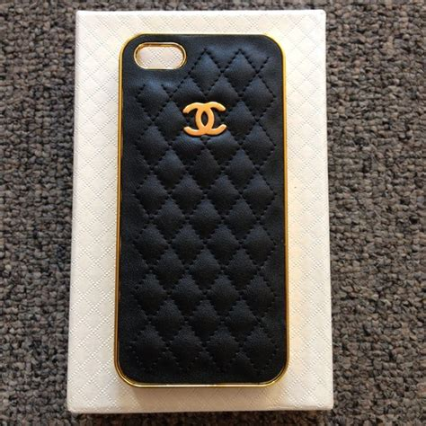 Chanel Gold For Iphone 4s Or Iphone 5s black gold chanel quilted iphone 5 os from irley s closet on poshmark