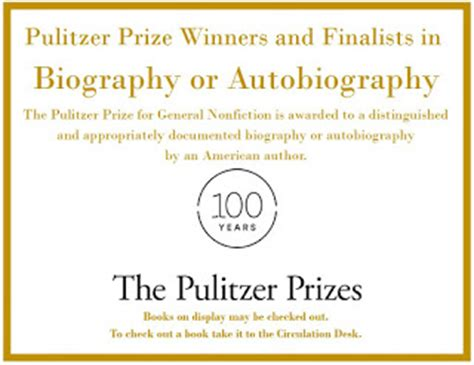 pulitzer prize biography winners list pulitzer dialogues