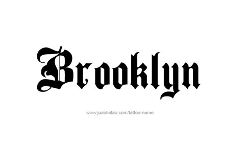 tattoo ideas for the name brooklyn tattoo design name brooklyn 21 png