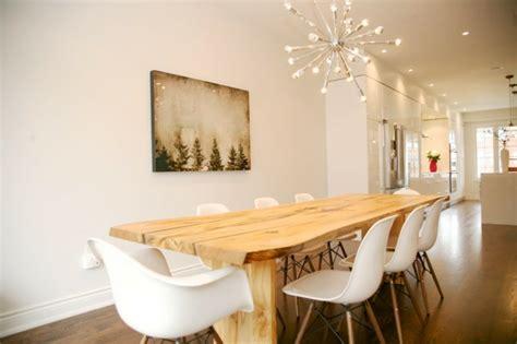 Dining Room Lighting Fixtures Ideas by Mesas De Comedor Modernas De Madera Maciza M 225 S De 50 Ideas