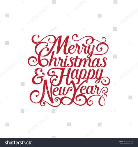 new year font style merry happy new year vector stock vector
