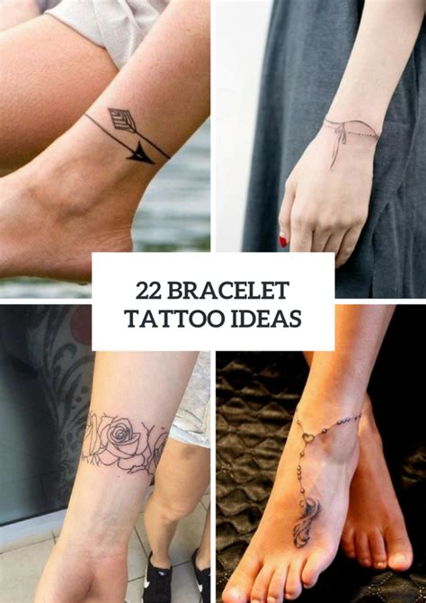 22 bracelet tattoo ideas for women styleoholic