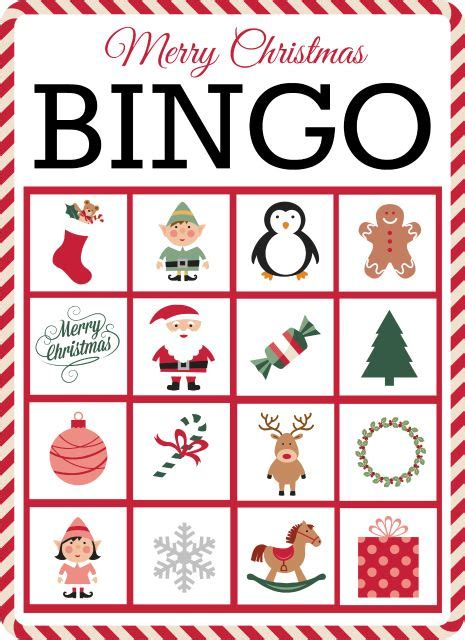 printable christmas bingo game cards christmas bingo bingo and free printable cards on pinterest