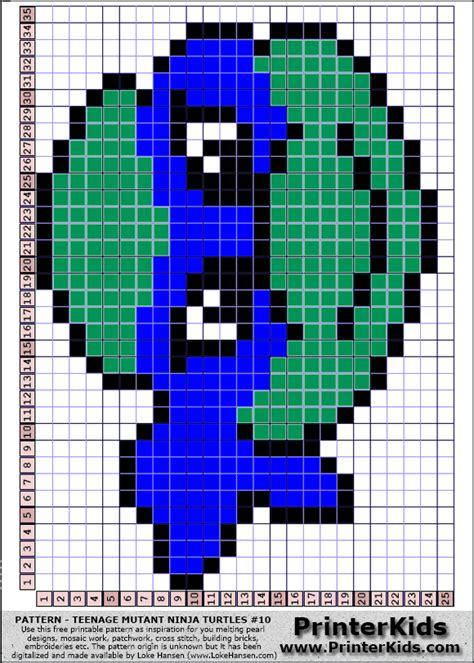 list of perler bead colors tmnt perler bead pattern just change colors c2c