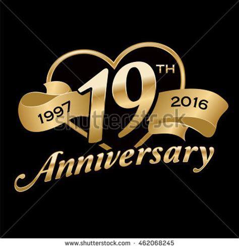 19th Anniversary Stock Vector 462068245   Shutterstock