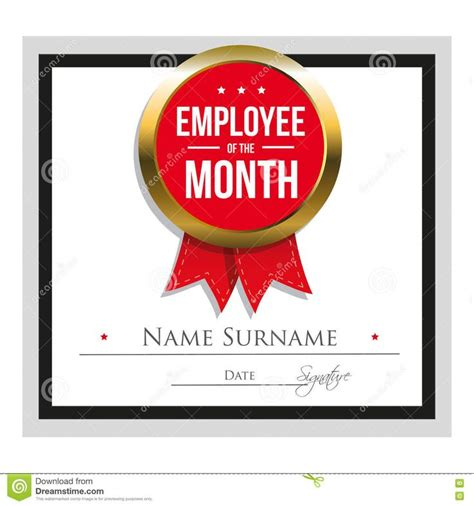 employee of the month poster template employee award certificate template free templates design