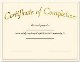 Blank Certificate Of Completion Templates Free Blank Certificates Certificate Templates