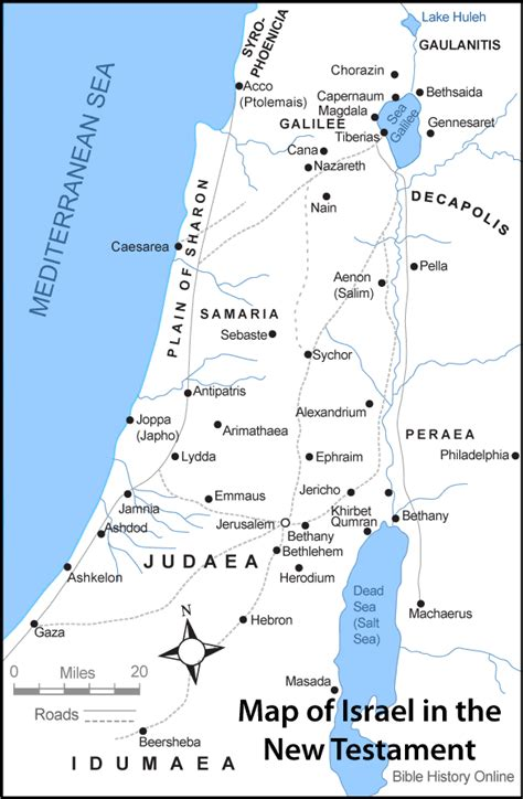 biblical map of israel bible maps on israel maps and jerusalem