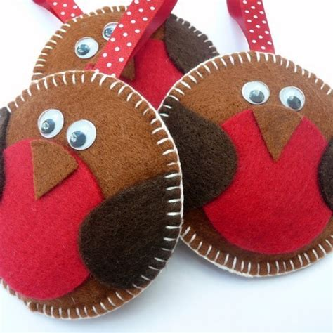 The Wool Nest Rockin Robin Folksy Friday Felt Robin Decoration Template