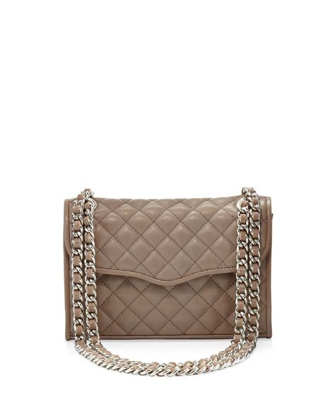 Minkoff Mini Quilted Affair by Minkoff Affair Quilted Mini Shoulder Bag Taupe In Brown Taupe Lyst