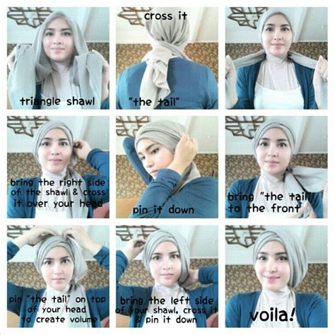 Jilbab Segi Empat Vintage Layer Turban Tutorial