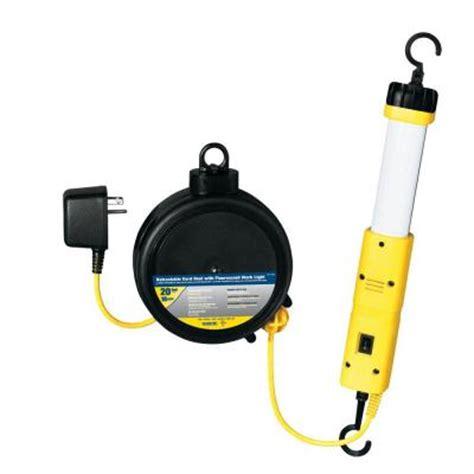 retractable work light home depot tasco 20 ft 18 3 fluorescent light retractable cord