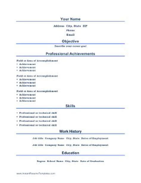 achievement resume template resume sle achievement based