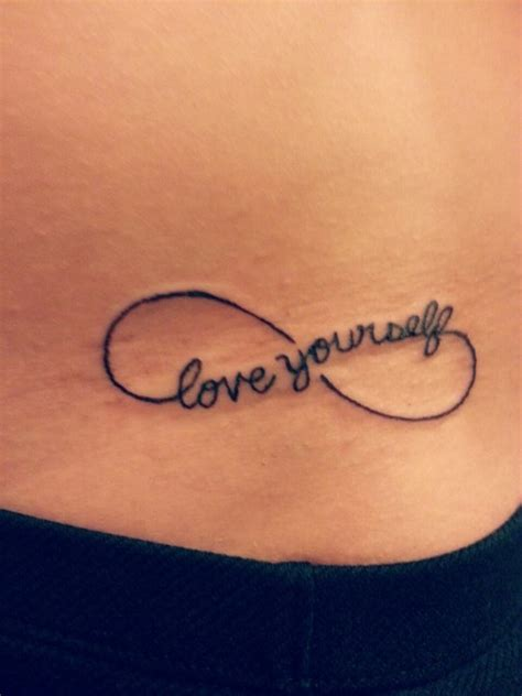 tattoo infinity believe in yourself love yourself infinity tattoo on hip