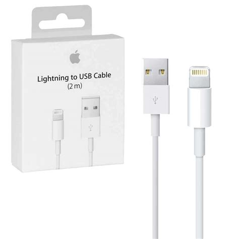 apple home lighting apple lightning to usb cable 2m length retail packed