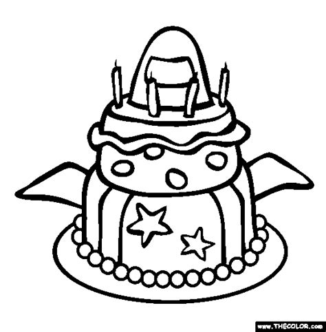 plain birthday cake coloring page birthday online coloring pages page 1