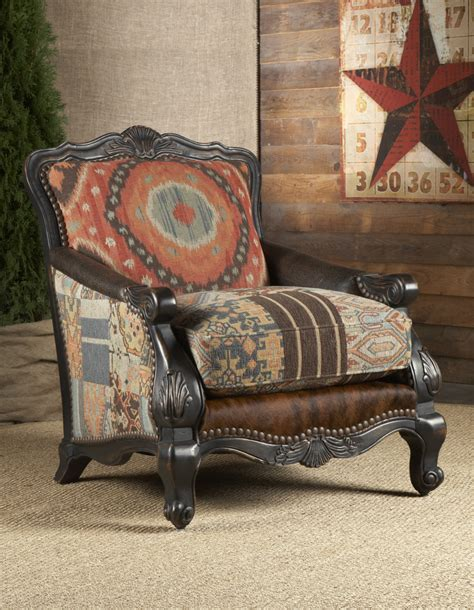 Southwestern Buckley Chair Chairs Ottomans Living Room Living Room Chairs With Ottoman