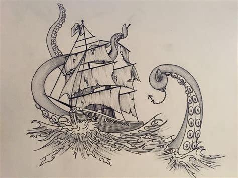 kraken ship drawing www pixshark com images galleries