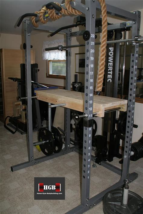 diy hyperextension for new powertec safety racks