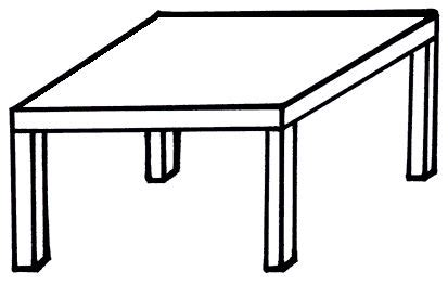coloring table table clipart coloring page pencil and in color table