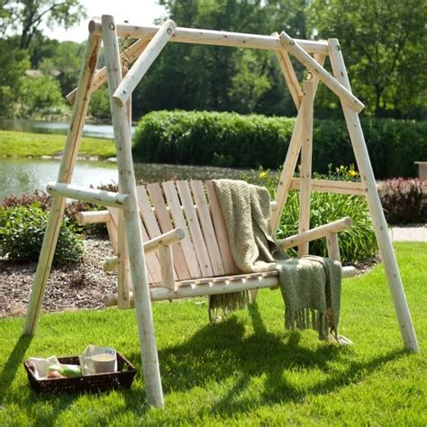 backyard swing bench 35 swingin backyard swing ideas