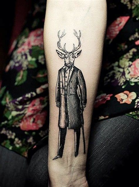 tattoo deer pinterest deer in a suit google search tattoos pinterest