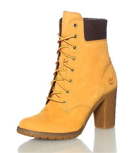 womens high heel timberland boots timberland s high heel boot lace up closure suede