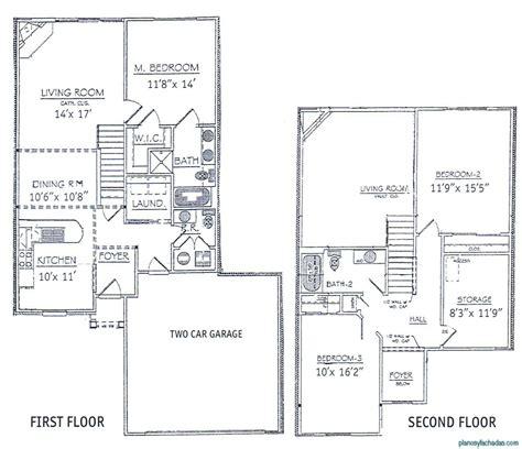 House Plans Two Master Suites One Story by 15 Planos De Casas Peque 241 As De Dos Pisos Planos Y