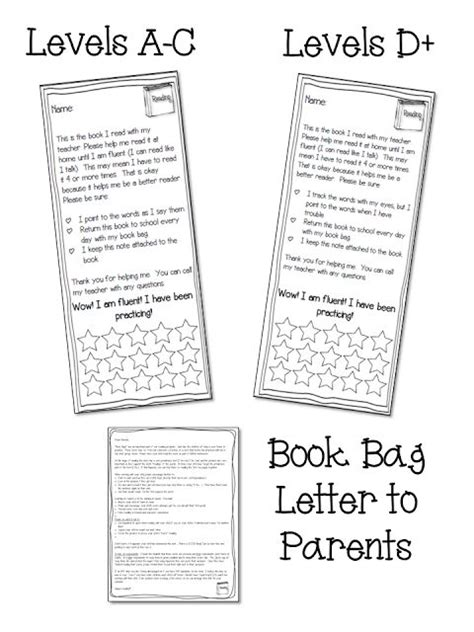 Parent Letter Reading Strategies keeping parents informed is important grab a book bag