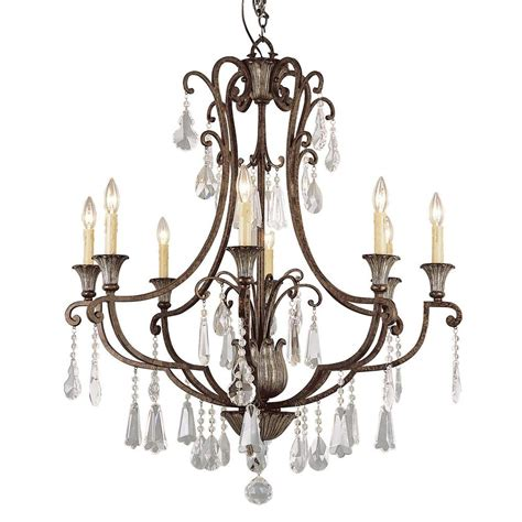 Antique Bronze Chandeliers Bel Air Lighting Cabernet Collection 8 Light Antique Bronze Chandelier 3968 The Home Depot