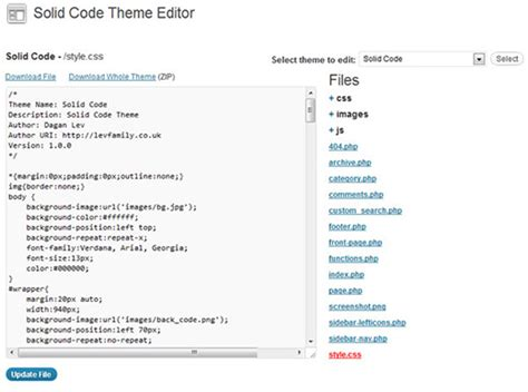 wordpress theme editor javascript how to remove or replace theme and plugin editors in