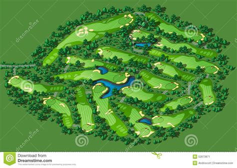 golf course layout design golf course layout stock vector illustration of design