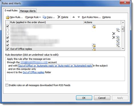 automatic mail reply outlook 2007