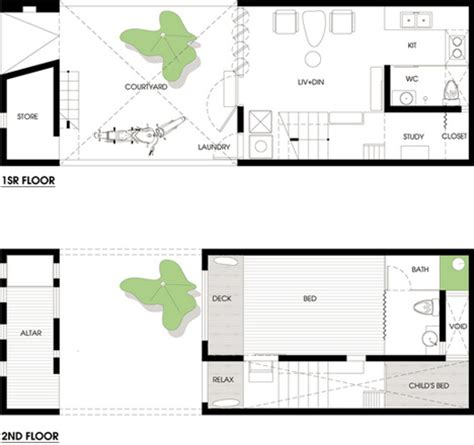 urban townhouse floor plans urban niche townhouse courtyard fill thin lot in hanoi