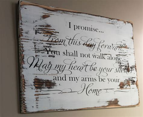 zanele muholi promise and wedding gifts rustic wedding vow wood sign from this day forward