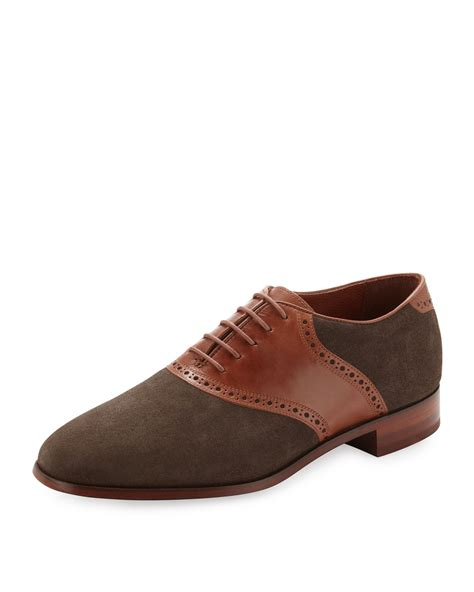 saddle shoes florsheim by duckie brown suedeleather saddle shoe in