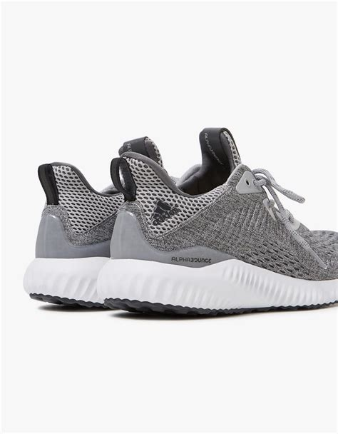 Alphabounce Blue White Grey adidas alphabounce em in grey white in gray lyst