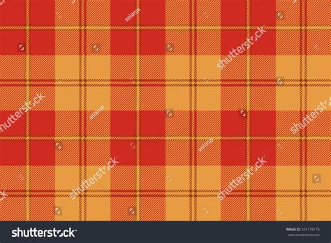 tartan pattern texture orange plaid tartan fabric texture seamless stock vector