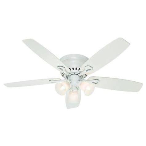hunter oakhurst ceiling fan hunter oakhurst 52 in white indoor flushmount ceiling fan