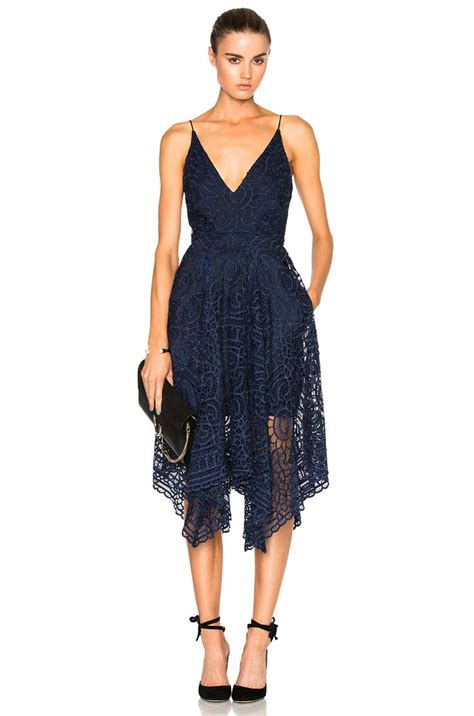 Dress And Fell Navy Floral Lace image 1 of nicholas floral lace dress in navy ballin lace dresses and