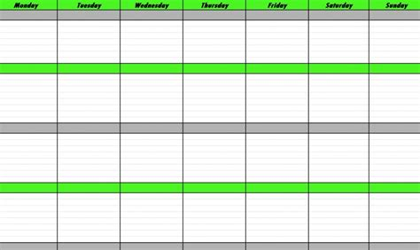 weekly schedule template weekly schedule