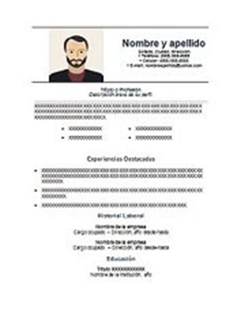 Plantilla Curriculum Vitae Para Completar Word 69 Modelos De Curriculum Vitae Exitosos Para Descargar En Word