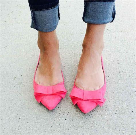 Bow Pointy Toe Flats pink bow flats pointy toe bow flats in any color really