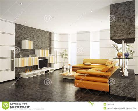 modern living room interior  render stock illustration