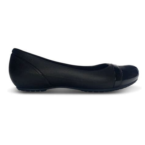 Flat Shoes Black crocs crocs cap toe black black u1 12300 060 flat shoes crocs from brands uk uk