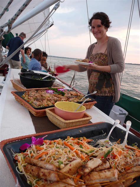 dinner caterer schooner woodwind specialty cruises