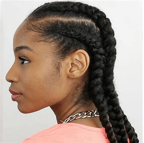 cornrow extension hairstyles 4 cornrows on natural hair with extensions
