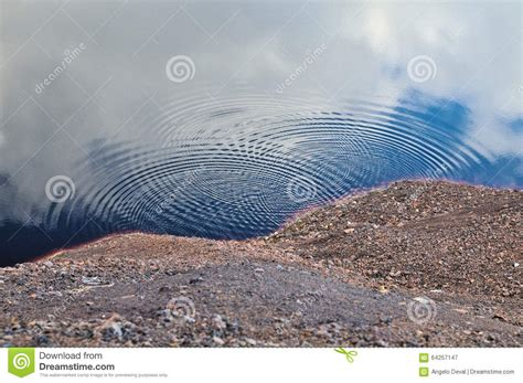 water pit and ripples stock photo image 64257147